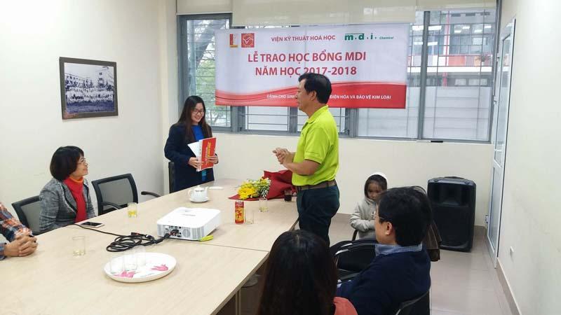 Lễ trao học bổng MDI năm học 2017-2018